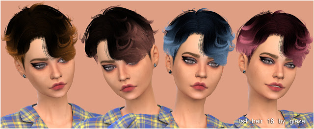 Sims 4 Hair 16 at All by Glaza