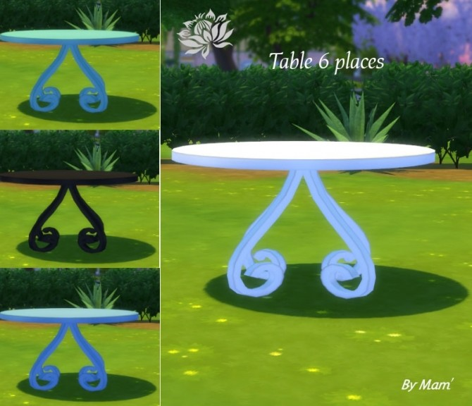 Sims 4 Sofia garden set by Maman Gateau at Sims Artists