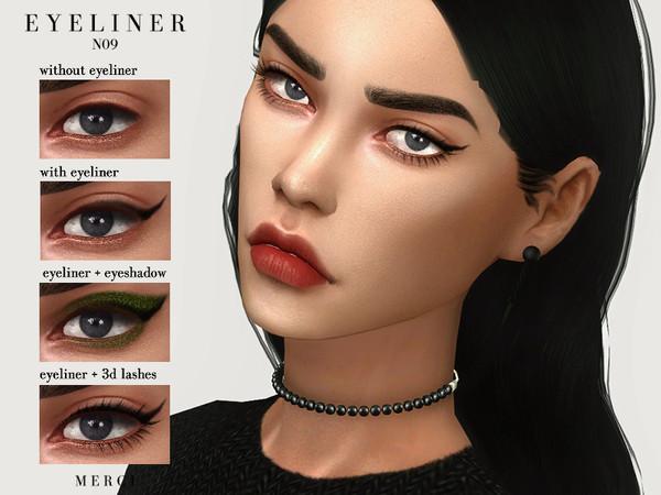 Sims 4 Eyeliner N09 by Merci at TSR