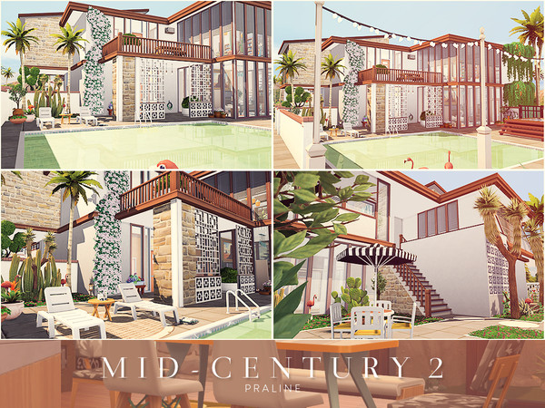 Mid Century 2 house by Pralinesims at TSR image 1618 Sims 4 Updates