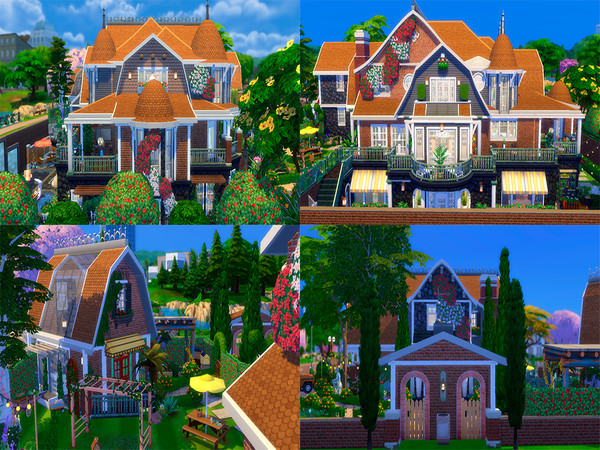Sims 4 Big Honey House by Caaroline Simmer at TSR