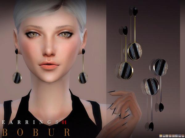 Sims 4 Earrings 01 by Bobur3 at TSR