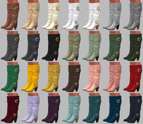 Sims 4 Nougat Boots at Saurus Sims
