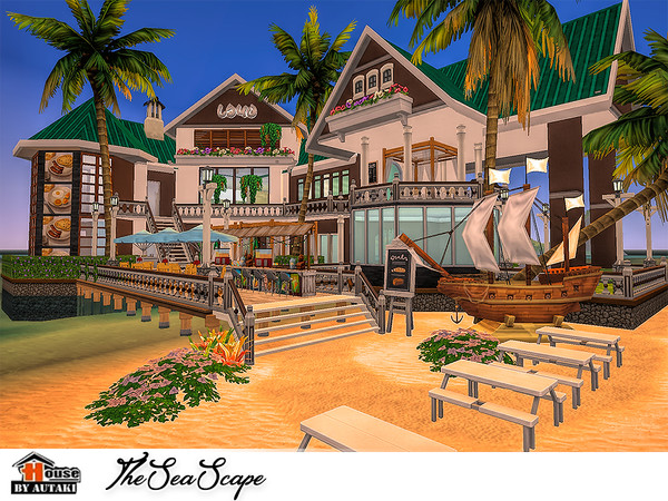The Sea Scape restaurant by autaki at TSR image 1639 Sims 4 Updates