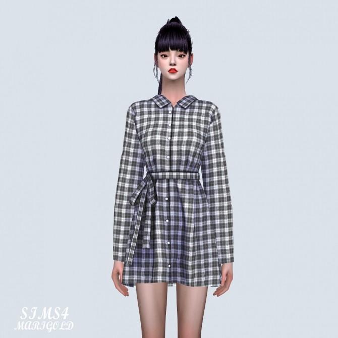 Sims 4 Lovely Shirts Mini Dress (P) at Marigold