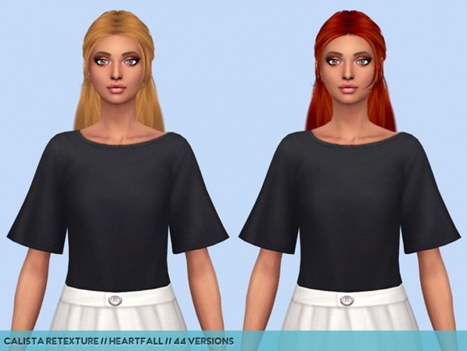 Sims 4 Hair retextures part 2 at Heartfall