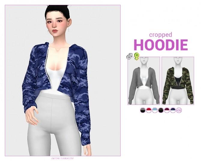 Cropped hoodie at Casteru image 1682 670x536 Sims 4 Updates