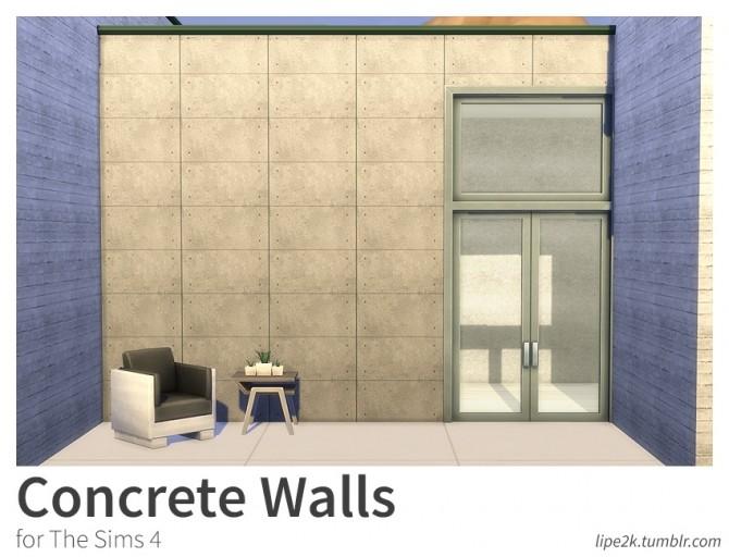 Concrete Walls at Lipe2k image 1691 670x512 Sims 4 Updates