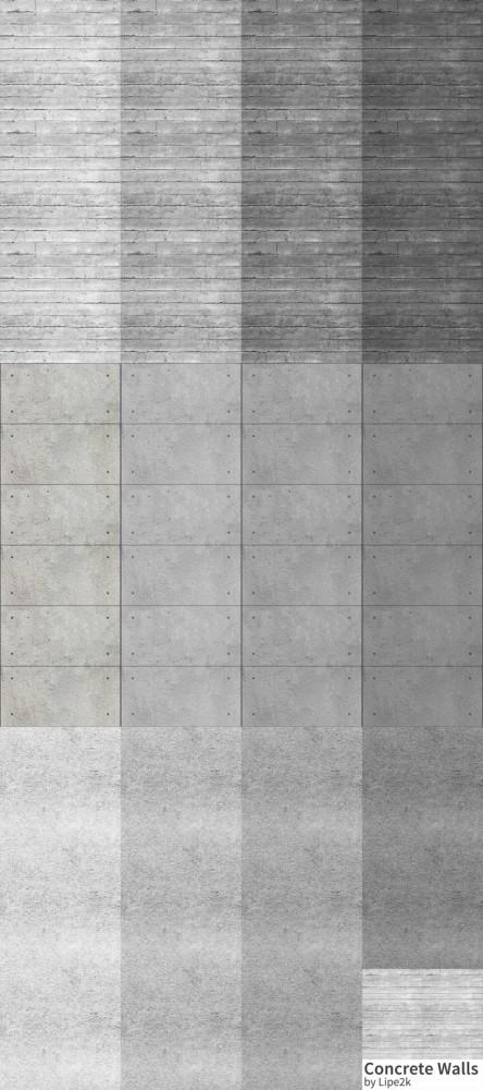 Concrete Walls at Lipe2k image 1701 444x1000 Sims 4 Updates