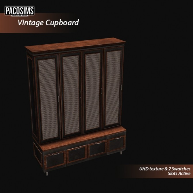 Sims 4 Vintage Cupboard (P) at Paco Sims