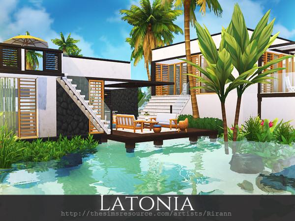 Latonia contemporary beach house by Rirann at TSR image 171 Sims 4 Updates