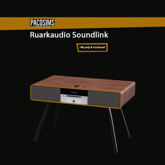 Sims 4 RuarkAudio Soundlink (P) at Paco Sims