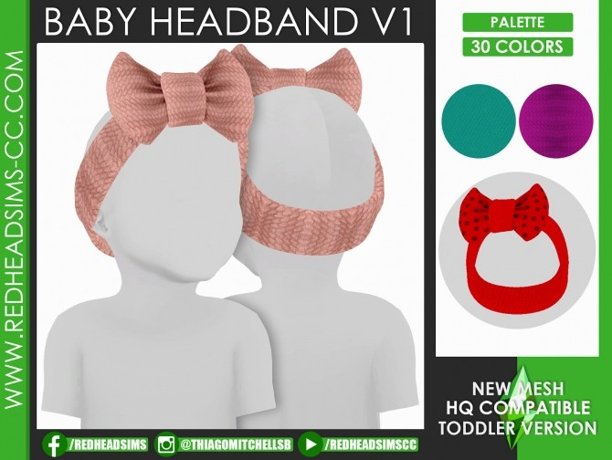 HAT SLIDER CONTROL KIDS AND TODDLER + HEADBAND ACC at REDHEADSIMS image 17111 670x504 Sims 4 Updates