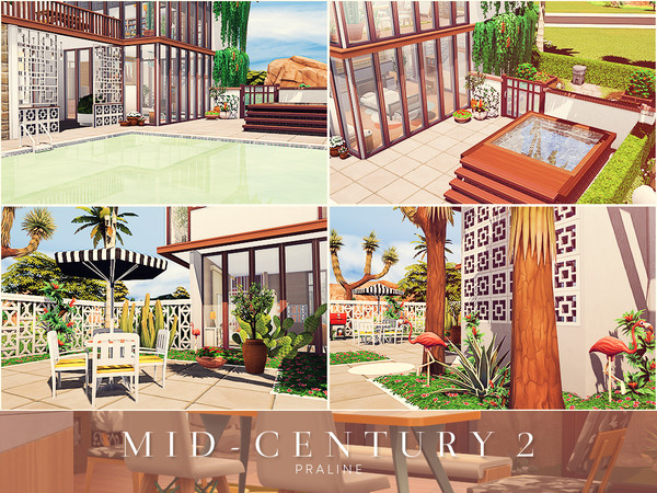 Mid Century 2 house by Pralinesims at TSR image 1717 Sims 4 Updates