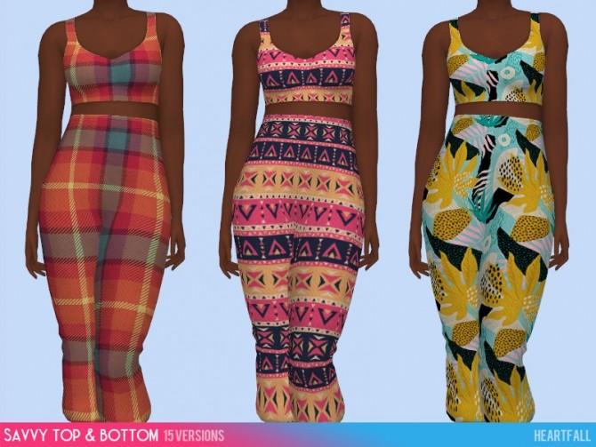 Sims 4 Savvy bodysuit, top and bottom at Heartfall