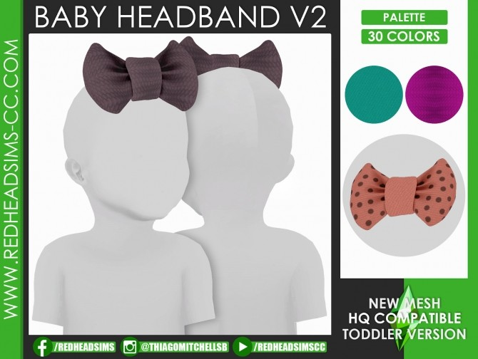 HAT SLIDER CONTROL KIDS AND TODDLER + HEADBAND ACC at REDHEADSIMS image 1726 670x504 Sims 4 Updates
