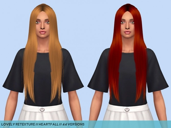 Sims 4 Hair retextures part 1 at Heartfall