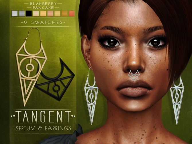 Tangent septum and earrings at Blahberry Pancake image 1732 670x503 Sims 4 Updates