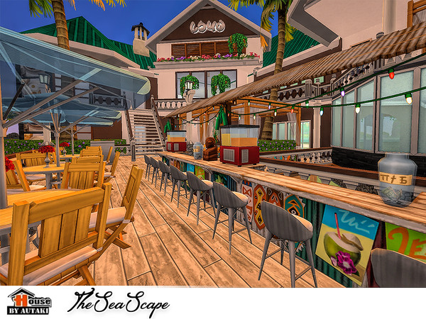 The Sea Scape restaurant by autaki at TSR image 1736 Sims 4 Updates