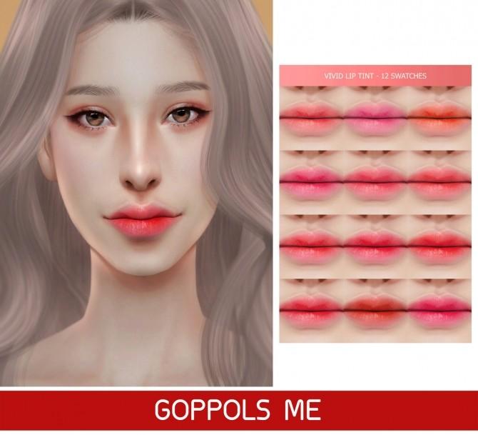 GPME Vivid Lip Tint at GOPPOLS Me image 1741 670x609 Sims 4 Updates