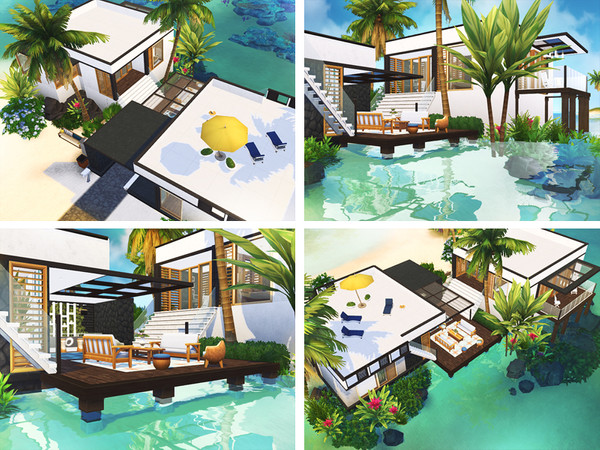 Latonia contemporary beach house by Rirann at TSR image 181 Sims 4 Updates