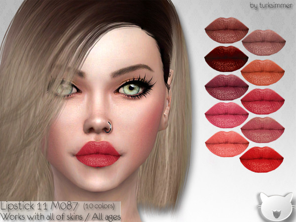 Lipstick 11 M087 by turksimmer at TSR image 1812 Sims 4 Updates
