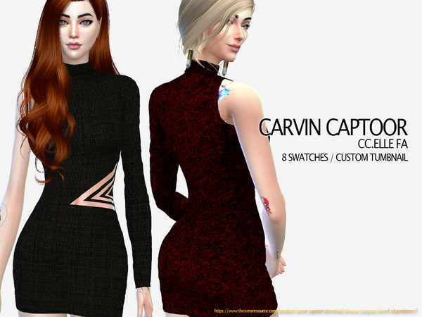 Sims 4 Elle FA dress by carvin captoor at TSR