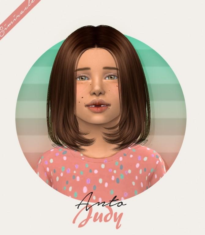 Sims 4 Anto Judy Hair Kids Version at Simiracle