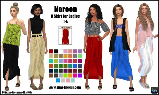 Sims 4 Noreen skirt by SamanthaGump at Sims 4 Nexus