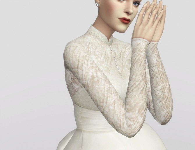 Sims 4 Grace of Monaco gown at Rusty Nail