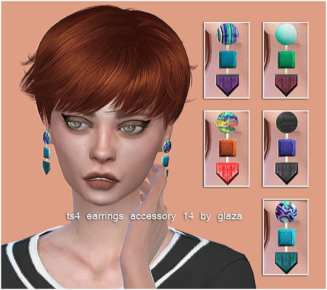 Sims 4 Earrings 14 at All by Glaza