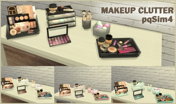 Sims 4 Makeup Clutter at pqSims4