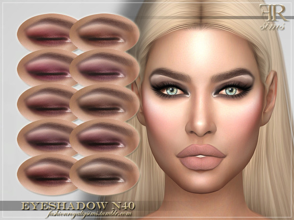 Sims 4 FRS Eyeshadow N40 by FashionRoyaltySims at TSR