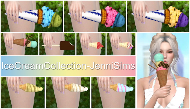Sims 4 Icecream Collection Acc Yummy Joy at Jenni Sims