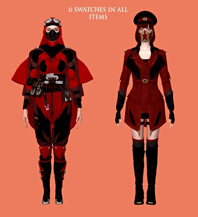 Sims 4 Skarlet Outfits & Accessories Pack at Astya96