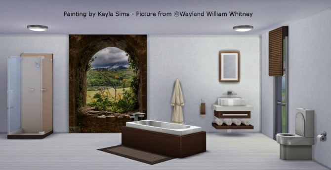 Sims 4 Paintings: Wayland William Whitney at Keyla Sims