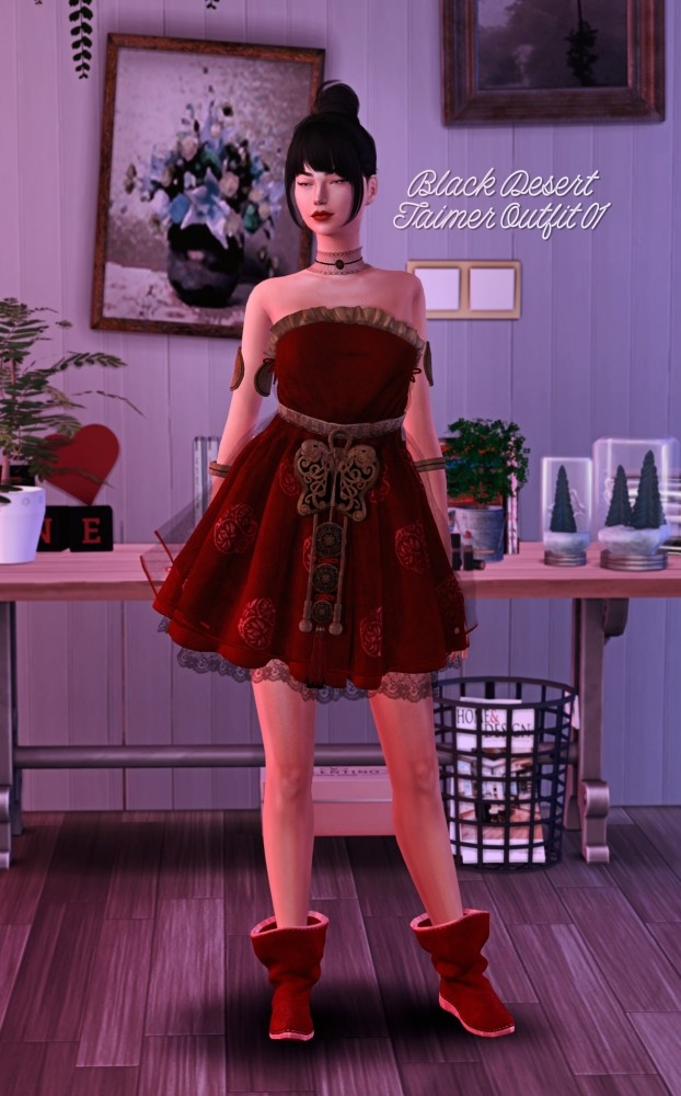 Sims 4 Black Desert Online Taimer Outfit at Astya96