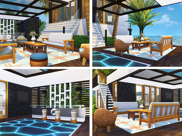 Latonia contemporary beach house by Rirann at TSR image 201 Sims 4 Updates