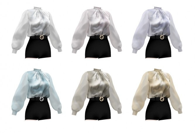 FM belt pants & silk blouse at Bedisfull – iridescent image 2024 670x454 Sims 4 Updates