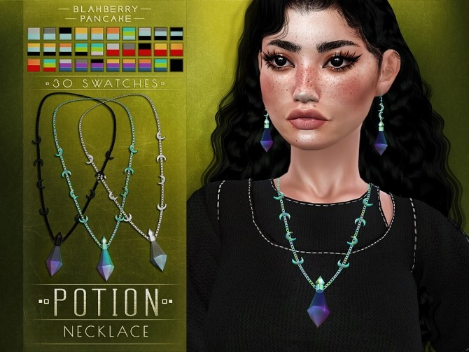 Sims 4 Potion earrings and earrings at Blahberry Pancake