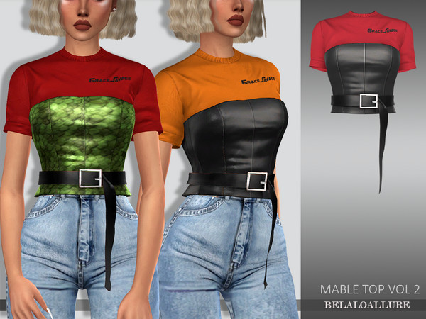 Belaloallure mable top vol 2 by belal1997 at TSR image 207 Sims 4 Updates