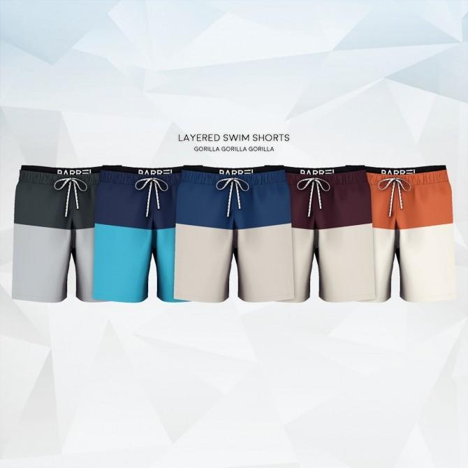Sims 4 Layered Swim Shorts at Gorilla