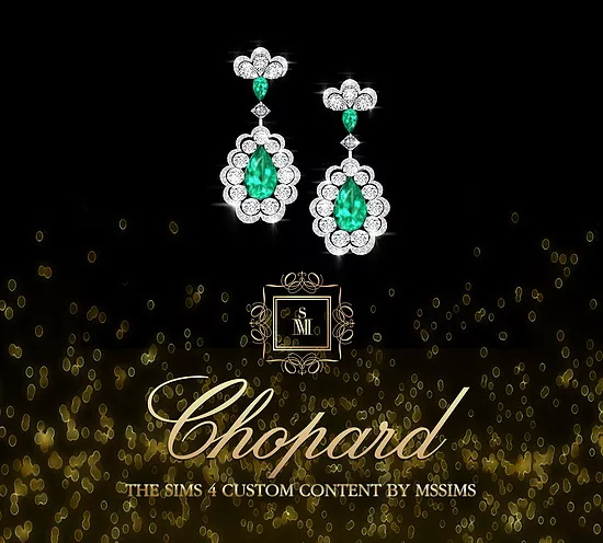 Sims 4 CHOPARD NECKLACE & EARRINGS at MSSIMS