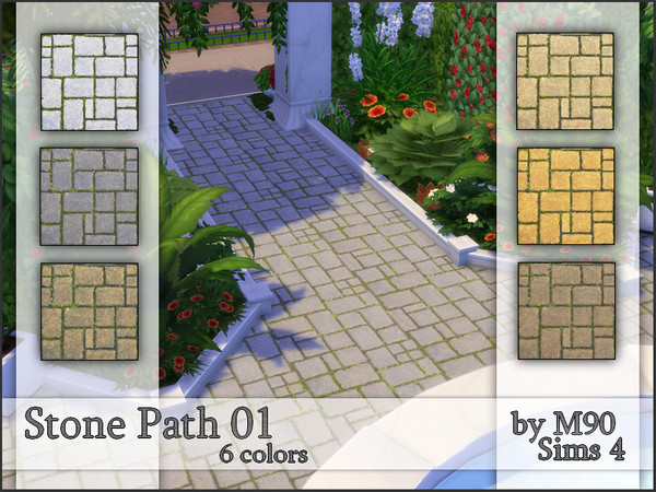 M90 Stone Path 01 by Mircia90 at TSR image 2108 Sims 4 Updates