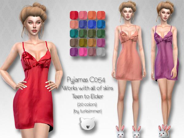Pyjamas C054 by turksimmer at TSR image 2120 Sims 4 Updates