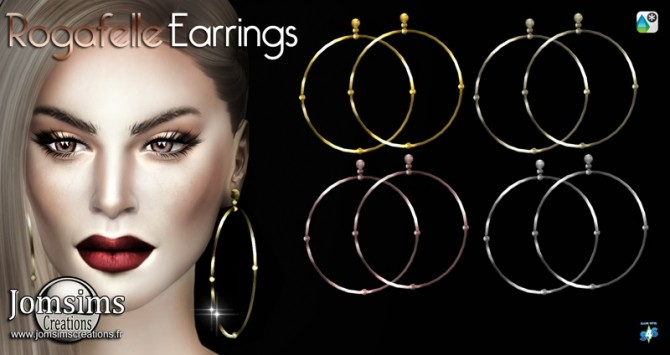 Sims 4 Rogafelle Earrings at Jomsims Creations