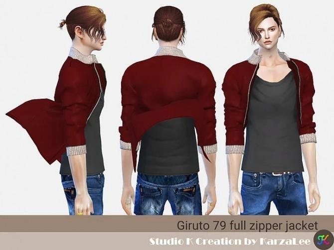 Sims 4 Giruto 79 full zipper jacket at Studio K Creation