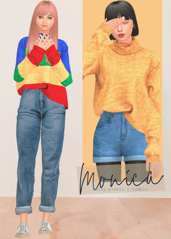 Monica Sweater at Daisy Pixels image 2136 670x937 Sims 4 Updates
