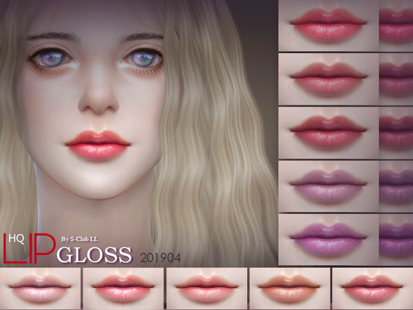 Sims 4 Lipstick 201904 by S Club LL at TSR