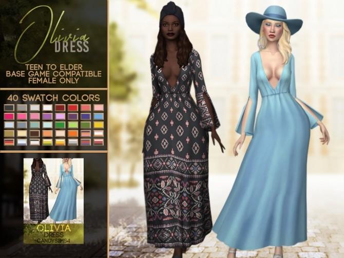 Sims 4 OLIVIA DRESS at Candy Sims 4